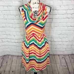 Judith March Cowl neck sleeveless dress